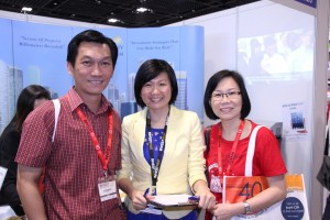 Our very supportive network members visiting us in our booth